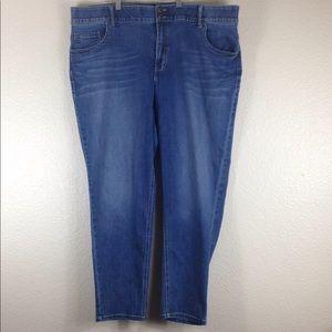 Lane Bryant Blue Denim long Leggings Jeans Size 26